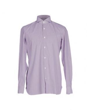 Pубашка GIAMPAOLO. Цвет: розовато-лиловый
