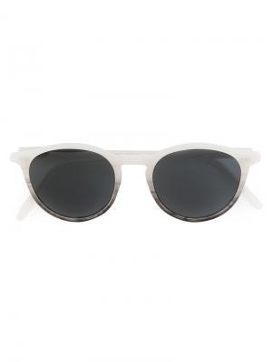 Солнцезащитные очки с круглой оправой Pantos Paris. Цвет: серый