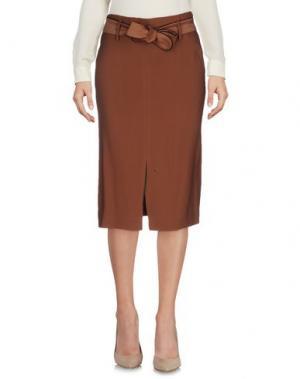 Юбка до колена SUOLI. Цвет: коричневый