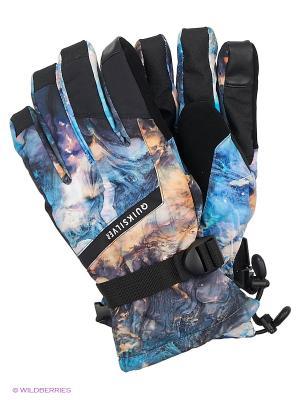 Перчатки Quiksilver. Цвет: голубой, серебристый, серо-голубой