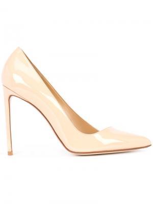 Классические туфли-лодочки Francesco Russo. Цвет: телесный