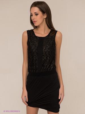 Платье Vero moda. Цвет: черный, золотистый