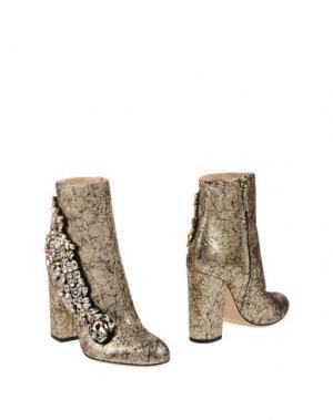 Полусапоги и высокие ботинки GEDEBE. Цвет: платиновый