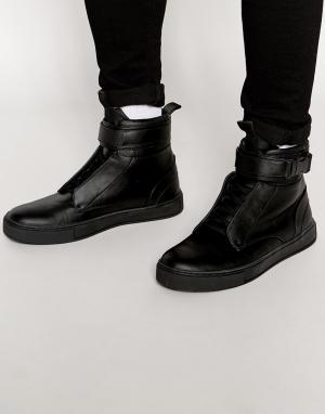 Dark Future Черные кроссовки с ремешком в виде ремня безопасности. Цвет: черный
