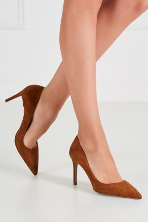 Замшевые туфли Prada. Цвет: none