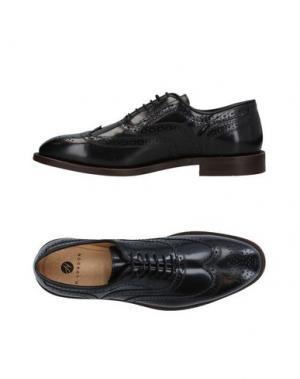 Обувь на шнурках H by HUDSON. Цвет: черный