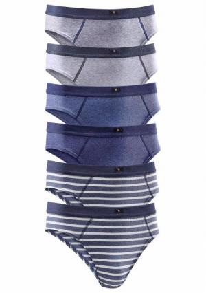 Трусы, 6 штук H.I.S.. Цвет: 6x серый/антрацитовый, 6x серый/синий