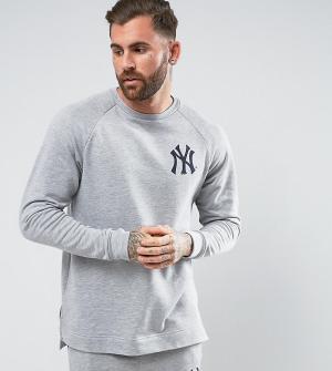 Majestic Длинный свитшот с рукавами реглан Yankees эксклюзивно для ASO. Цвет: серый