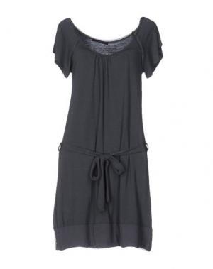 Короткое платье B.YU. Цвет: свинцово-серый