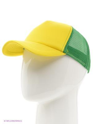 Бейсболка Combo Trucker True Spin. Цвет: зеленый, желтый