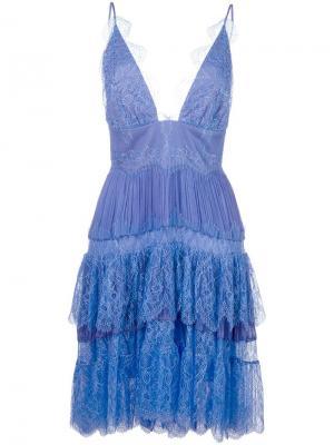 Платье Diana Maria Lucia Hohan. Цвет: синий