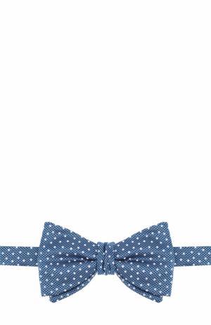 Шелковый галстук-бабочка с узором Eton. Цвет: бирюзовый