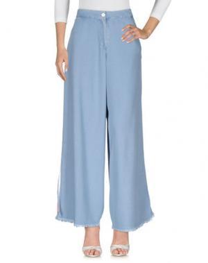 Джинсовые брюки REVISE. Цвет: синий