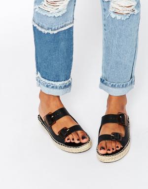 Miista Кожаные сандалии Kitty. Цвет: черный