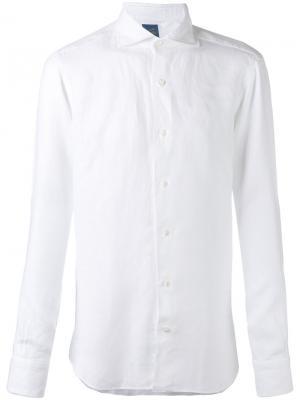 Рубашка с длинными рукавами Barba. Цвет: белый