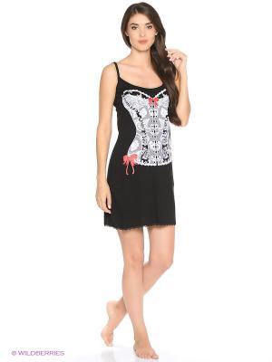 Сорочка ночная женская MARSOFINA. Цвет: черный