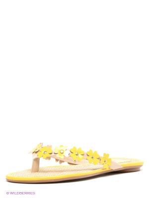 Шлепанцы VelVet. Цвет: желтый