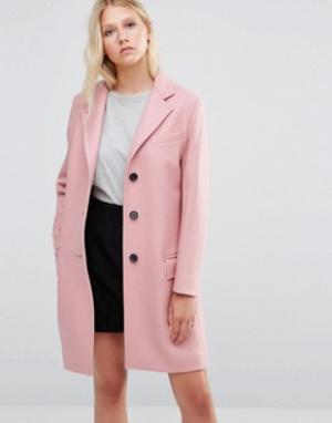 Gloverall Розовое пальто Chesterfield. Цвет: розовый