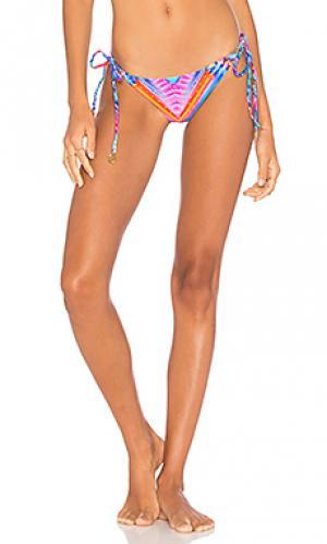 Низ бикини в бразильском стиле star girl Luli Fama. Цвет: синий