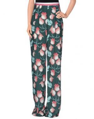 Повседневные брюки BEATRICE. Цвет: темно-зеленый