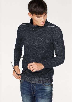 Пуловер JOHN DEVIN. Цвет: синий/меланжевый