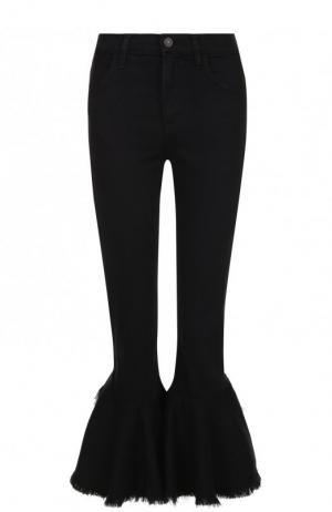 Укороченные расклешенные джинсы с потертостями Citizens Of Humanity. Цвет: черный