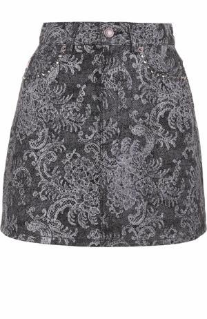 Джинсовая мини-юбка с декоративной отделкой Marc Jacobs. Цвет: черный