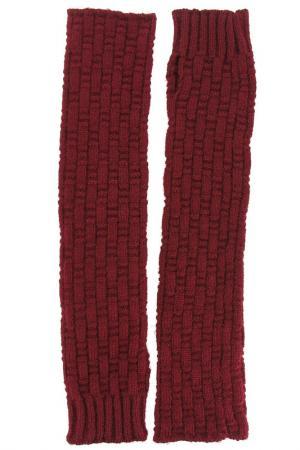 Перчатки Stella. Цвет: бордовый