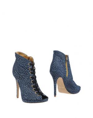 Полусапоги и высокие ботинки ALBERTO MORETTI. Цвет: пастельно-синий