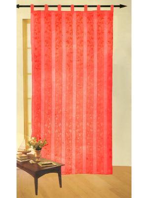 Итальянские шторы Gabel 150х290 La Pastel. Цвет: красный