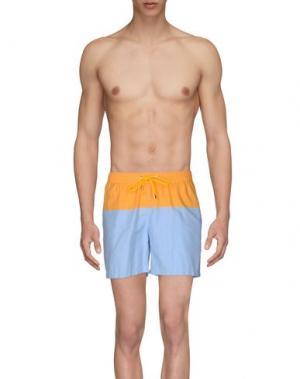 Шорты для плавания FAÇONNABLE. Цвет: оранжевый