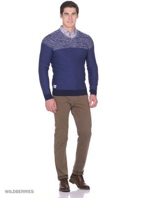 Пуловер Boston Brothers. Цвет: темно-синий, синий, светло-серый