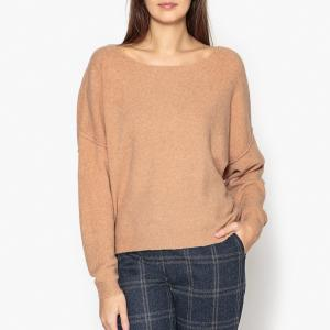 Пуловер с круглым вырезом из тонкого трикотажа DAM AMERICAN VINTAGE. Цвет: хаки