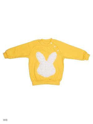 Толстовка Пушистый заяц Лео. Цвет: желтый