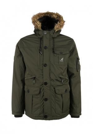 Куртка утепленная Kangol. Цвет: хаки