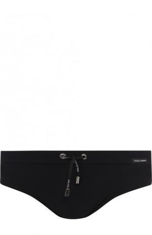 Плавки с поясом на кулиске Dolce & Gabbana. Цвет: черный