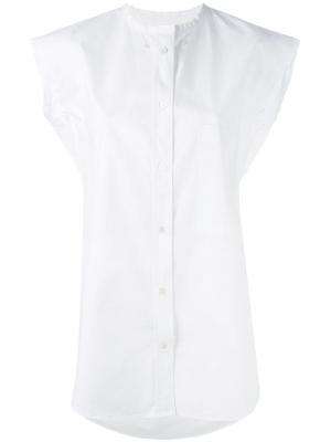 Рубашка без рукавов Golden Goose Deluxe Brand. Цвет: белый
