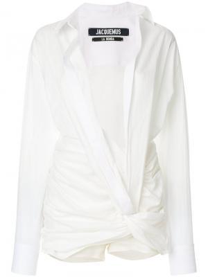 Рубашка Samba Jacquemus. Цвет: белый
