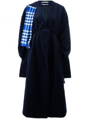 Пальто свободного кроя Le Manteau Jacquemus. Цвет: синий