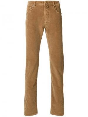 Вельветовые брюки Jacob Cohen. Цвет: коричневый