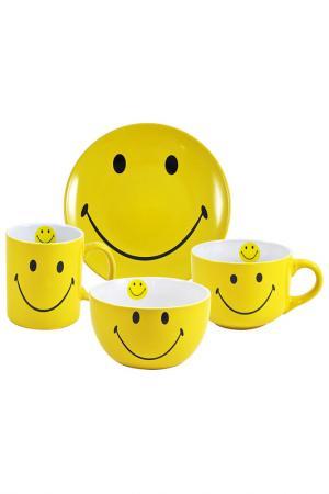 Набор посуды, 4 пр. UNION. Цвет: желтый