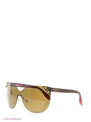 Очки солнцезащитные BLD 1509 204 Baldinini. Цвет: коричневый