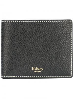 Кошелек-бумажник для карт Mulberry. Цвет: чёрный