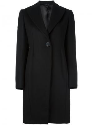 Однобортное пальто Tonello. Цвет: чёрный
