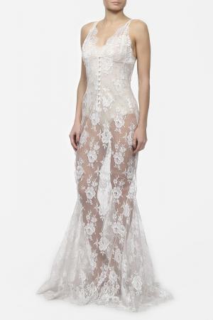 Платье Rosamosario. Цвет: белый