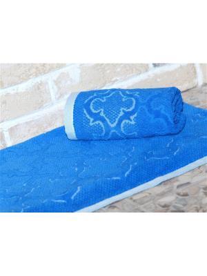 Полотенце махровое 70х140 ЛАГУНА синий TOALLA. Цвет: синий