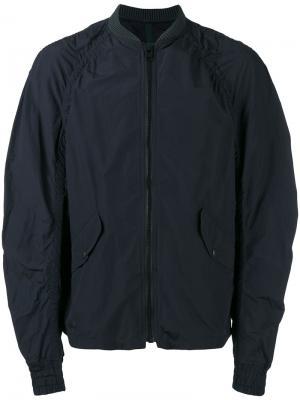 Куртка-бомбер с воротником в рубчик Kolor. Цвет: синий