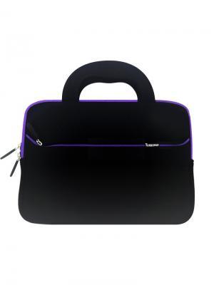 Чехол сумка для планшетного компьютера 10 и 9,7 TurboPad. Цвет: черный, фиолетовый