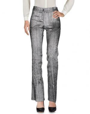 Повседневные брюки BABYLON. Цвет: серебристый