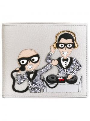 Бумажник с аппликацией Dolce & Gabbana. Цвет: телесный